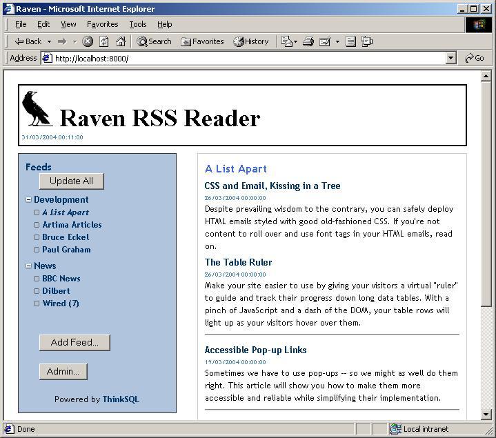 Raven RSS Reader